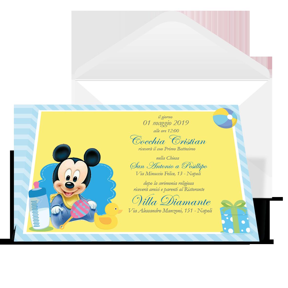 Partecipazioni Matrimonio Walt Disney.Invito Topolino Walt Disney Lagigroup Tipografia E Stampa