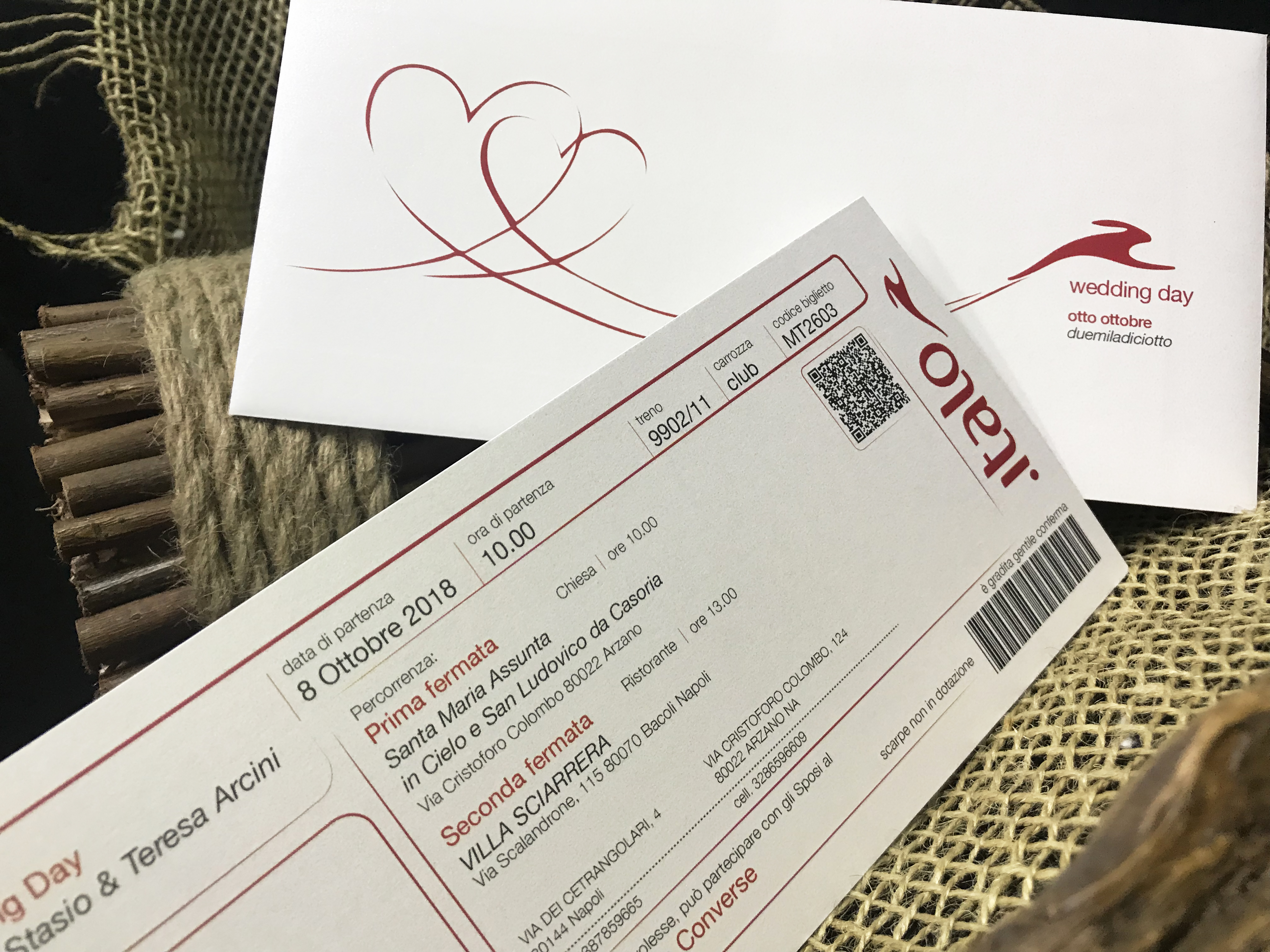 Biglietto Partecipazioni Matrimonio.Partecipazione Biglietto Del Treno Lagigroup Tipografia E