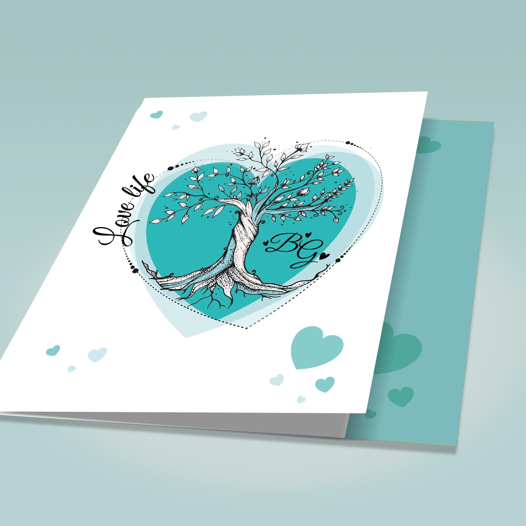 Partecipazioni Matrimonio Tiffany On Line.Partecipazione Matrimonio Albero Della Vita Verde Tiffany